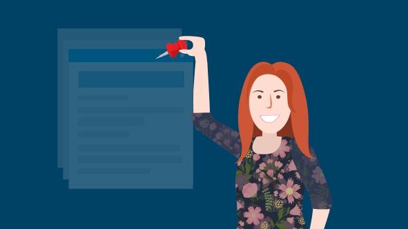 Shows author Etsy Coach Lauren Kilgore teaching how to use Pinterest to market your Etsy shop